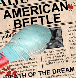 A Newspaper Reports American Beetle is Dead